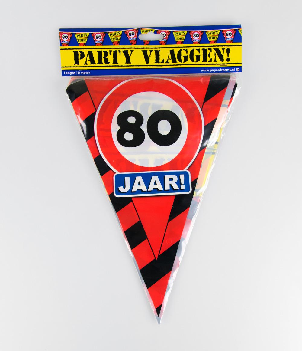 10m Vlaggenlijn Verkeersbord 80 jaar