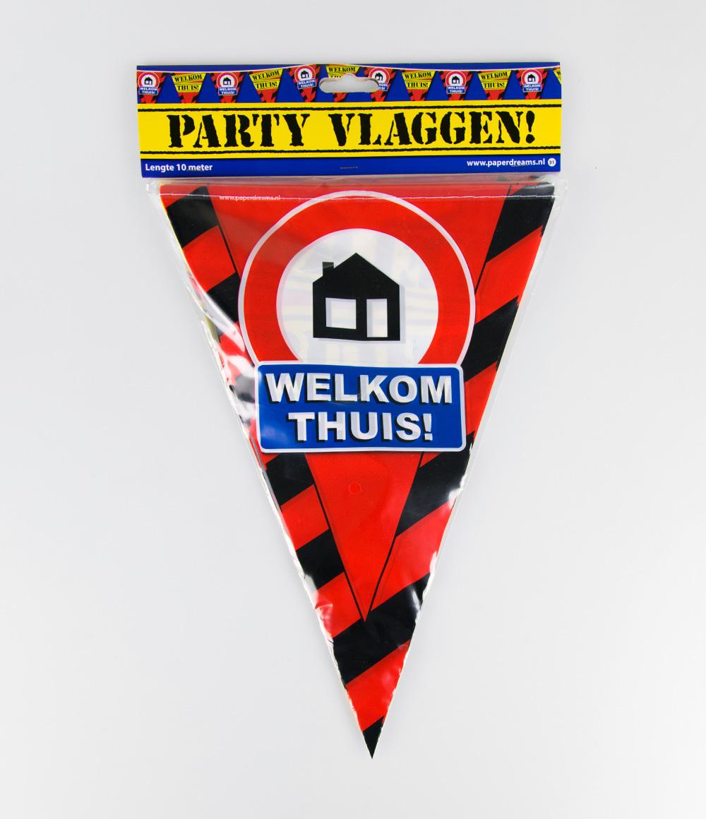 10m Vlaggenlijn Verkeersbord Welkom Thuis