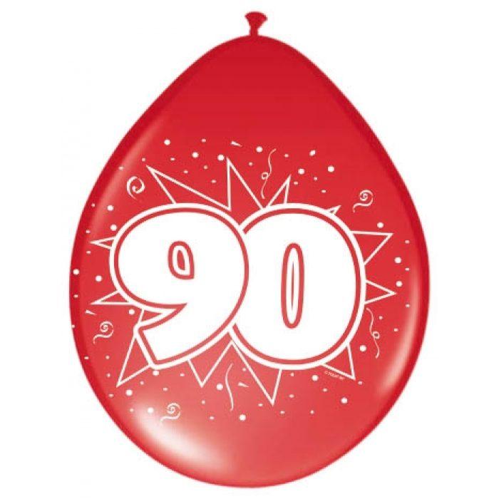 8st Ballonnen Hoera 90 jaar