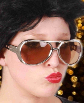 Elvis bril Zilver Populair