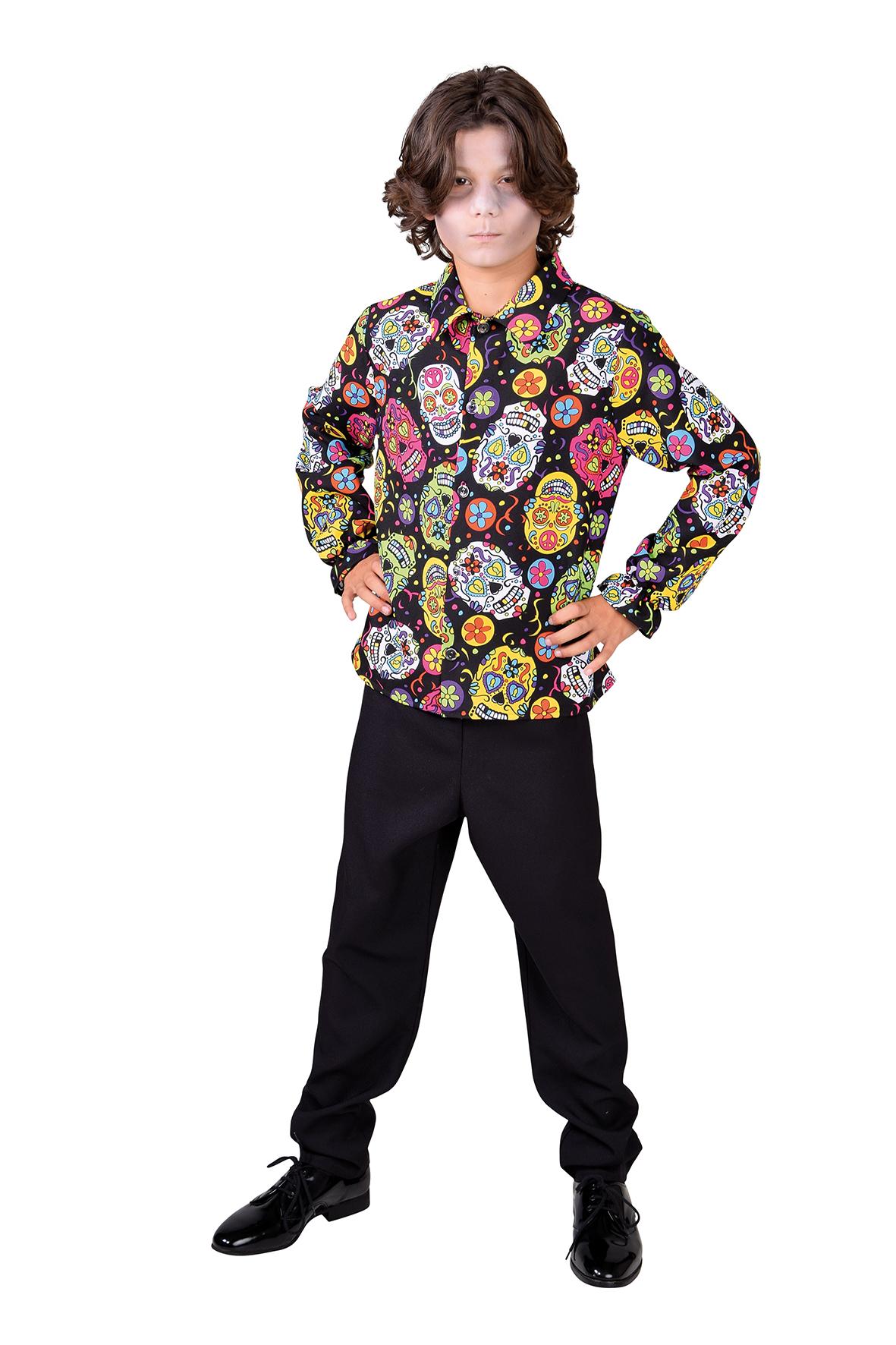 Hemd Mexican Skull Zwart Kind
