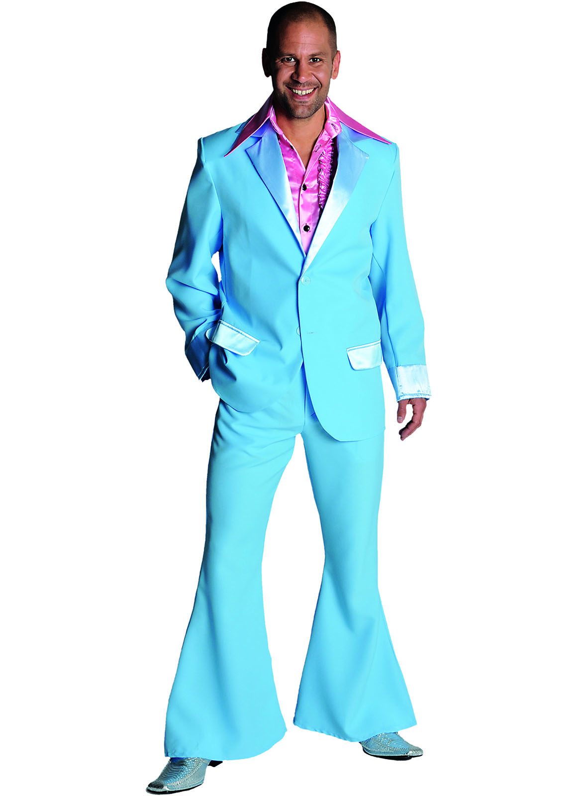Kostuum 70's Broek en Colbert Licht Blauw Heren