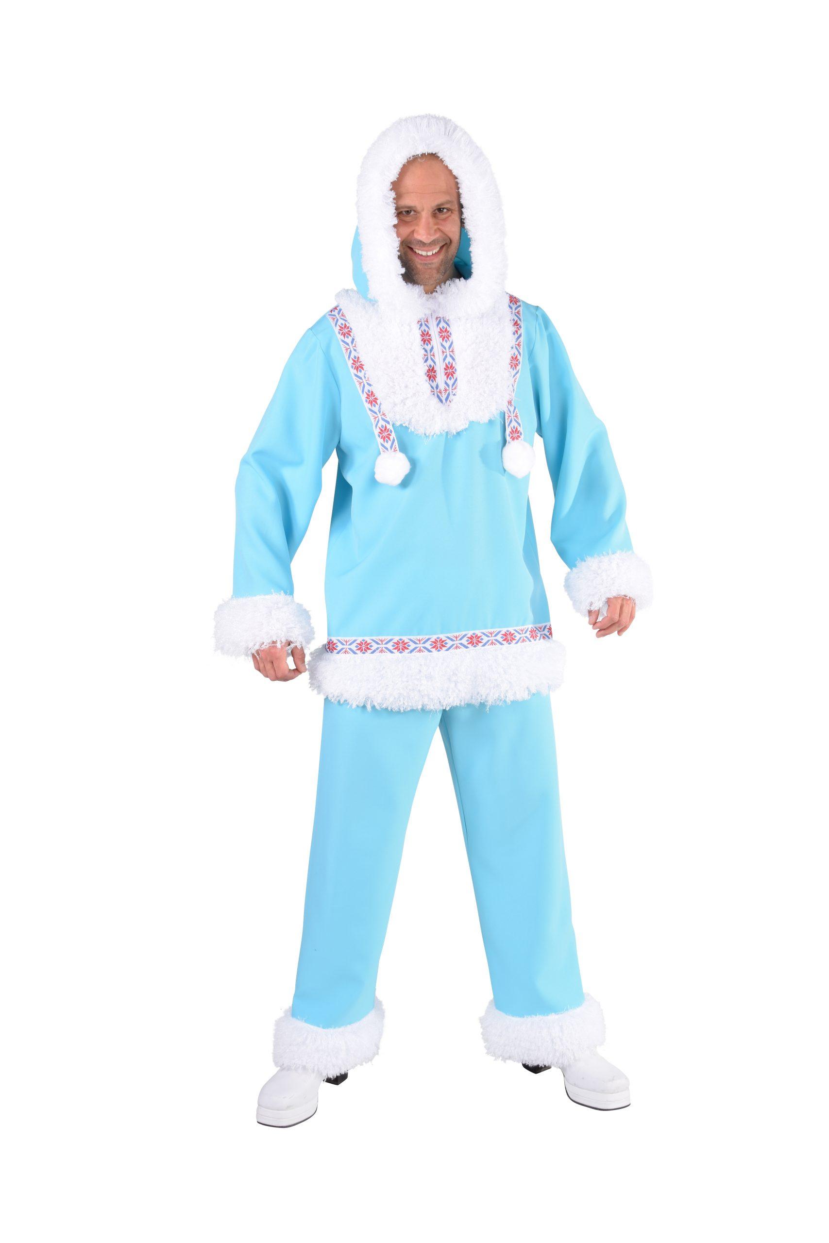 Kostuum Eskimo Ijsblauw Heren