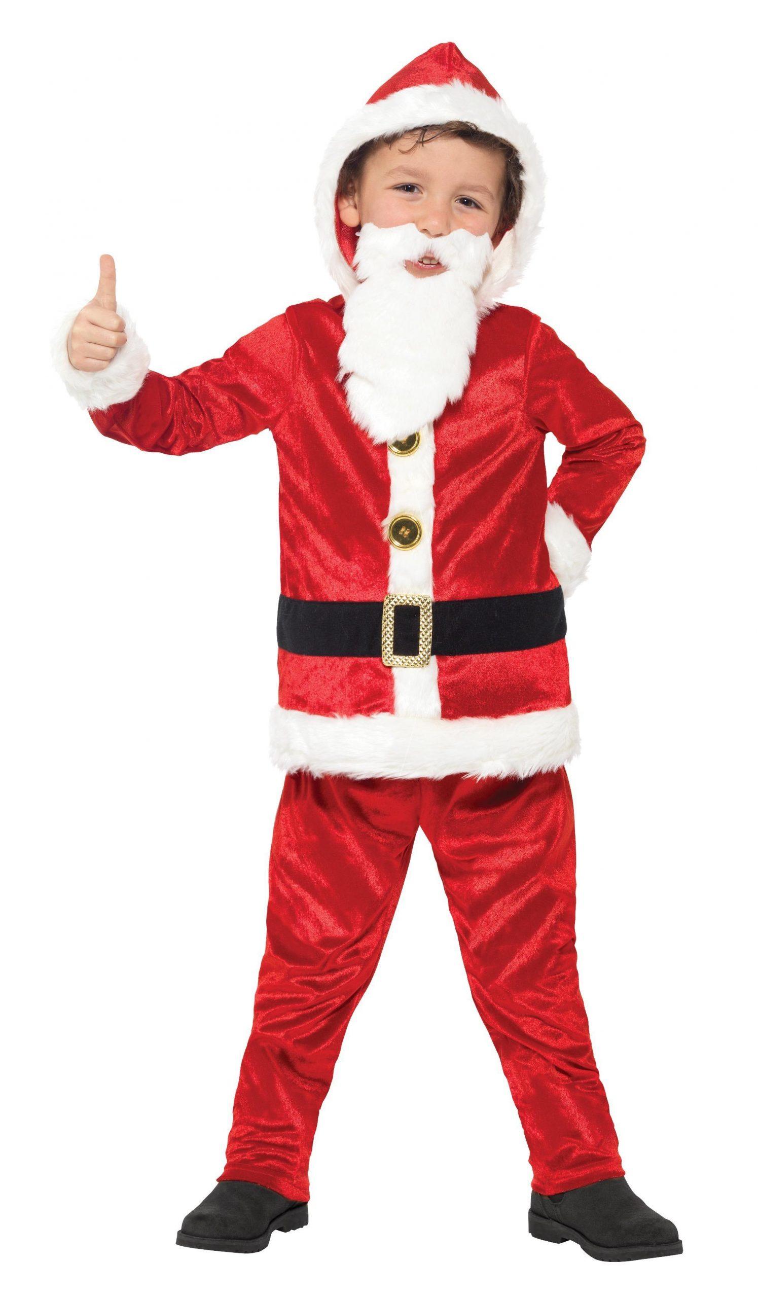 Kostuum Kerstman met Geluid Jongen