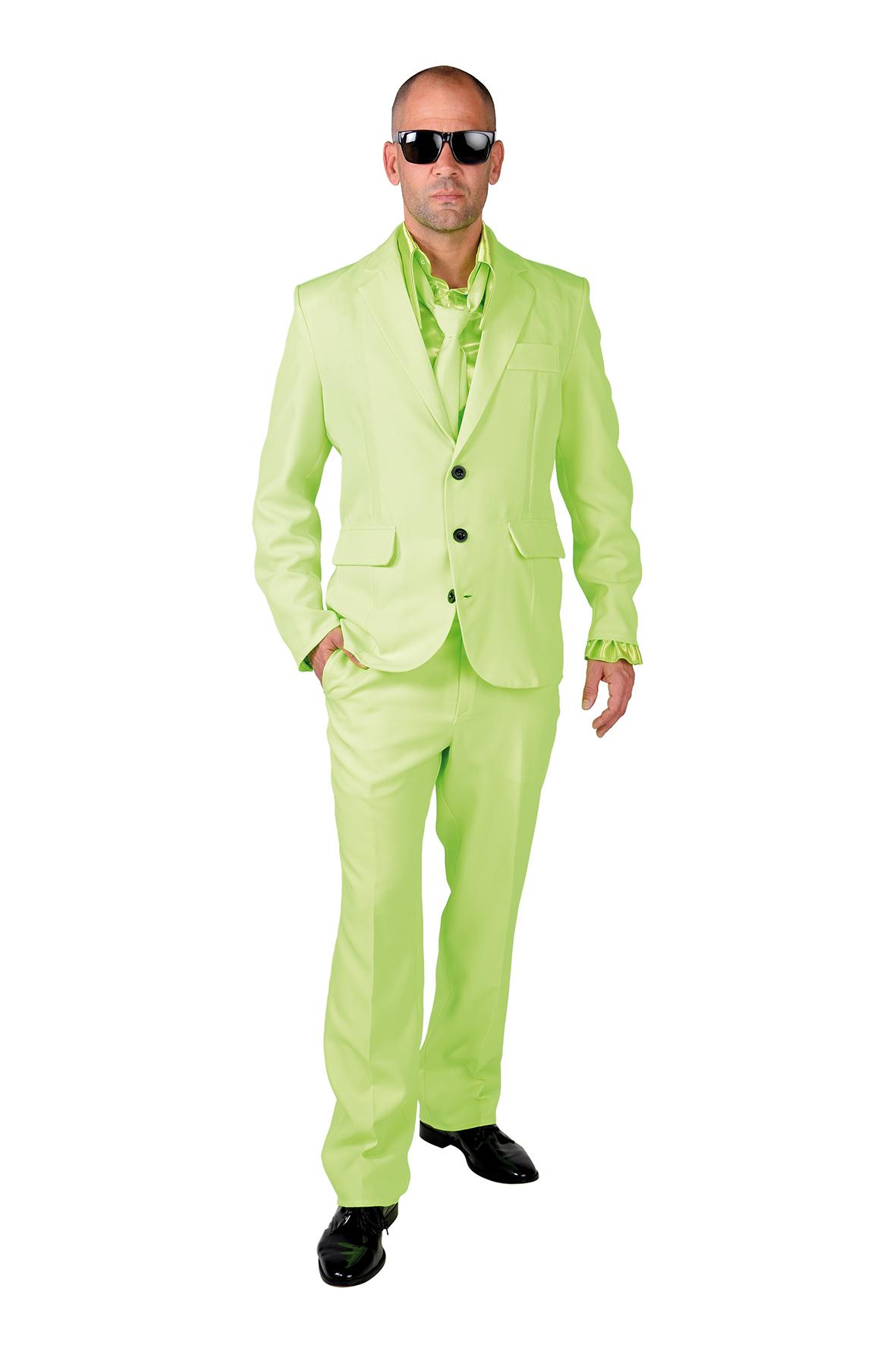 Kostuum Magic Suit Lime Groen Heren