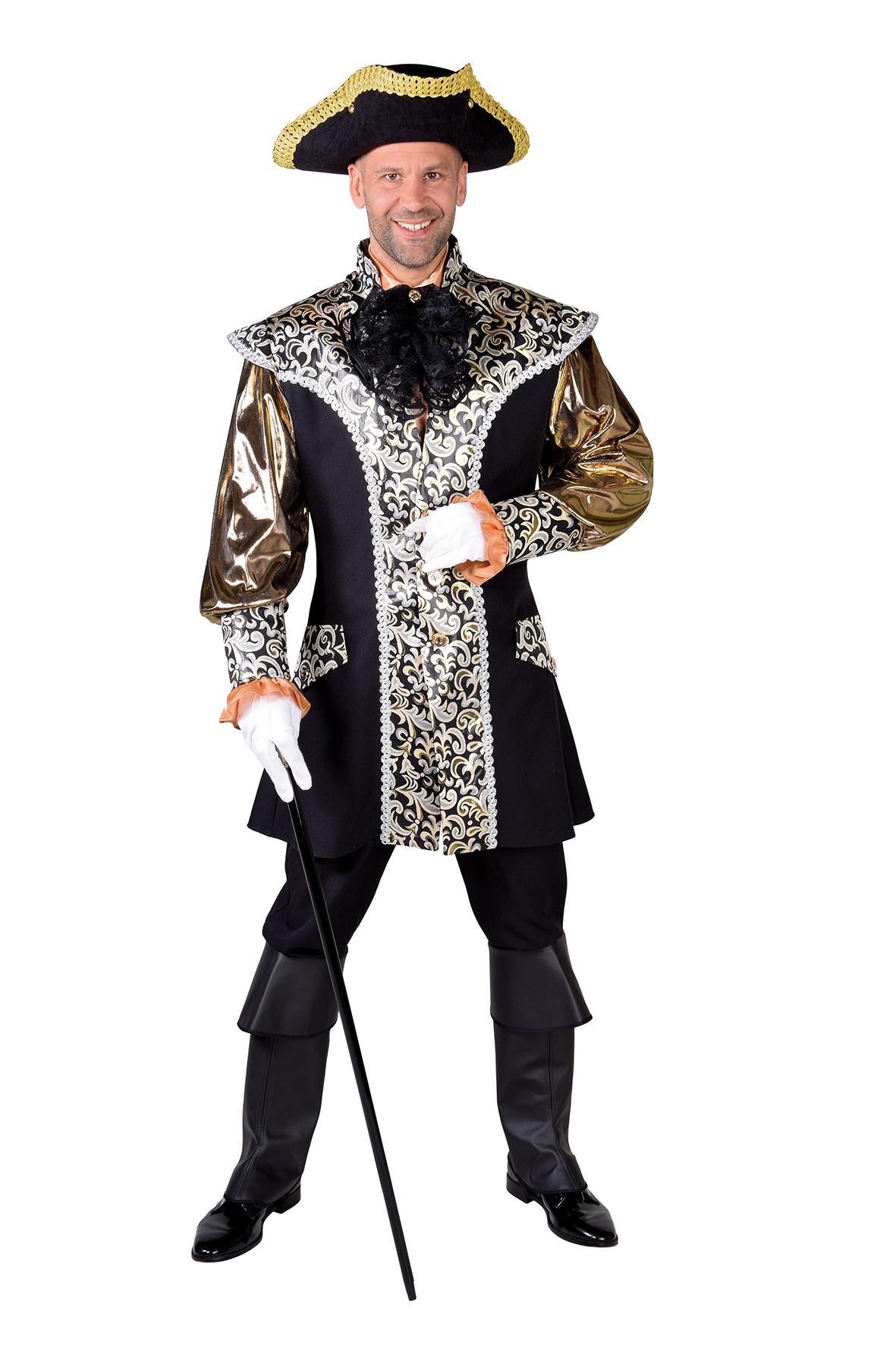 Kostuum Markies Glitter Goud Heren