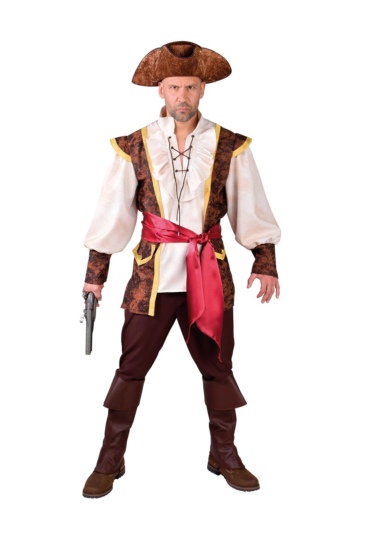 Kostuum Piraat Bruin Heren