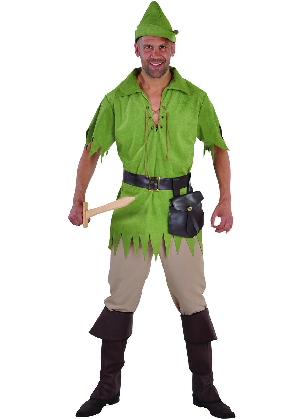 Kostuum Robin Hood Groen Heren