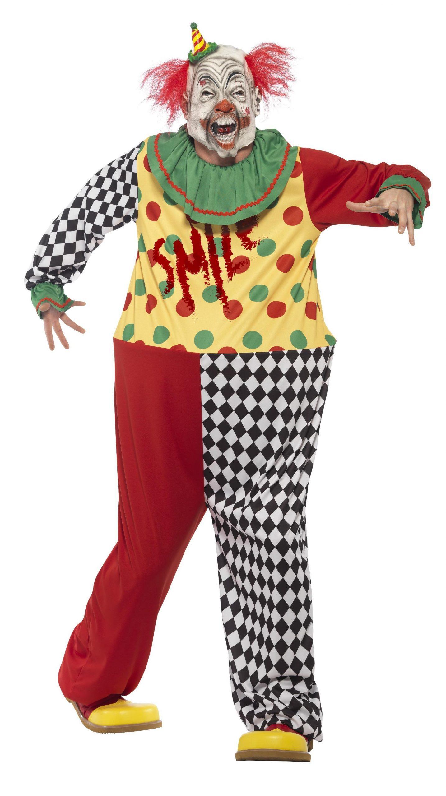 Kostuum Sinister Horror Clown Heren