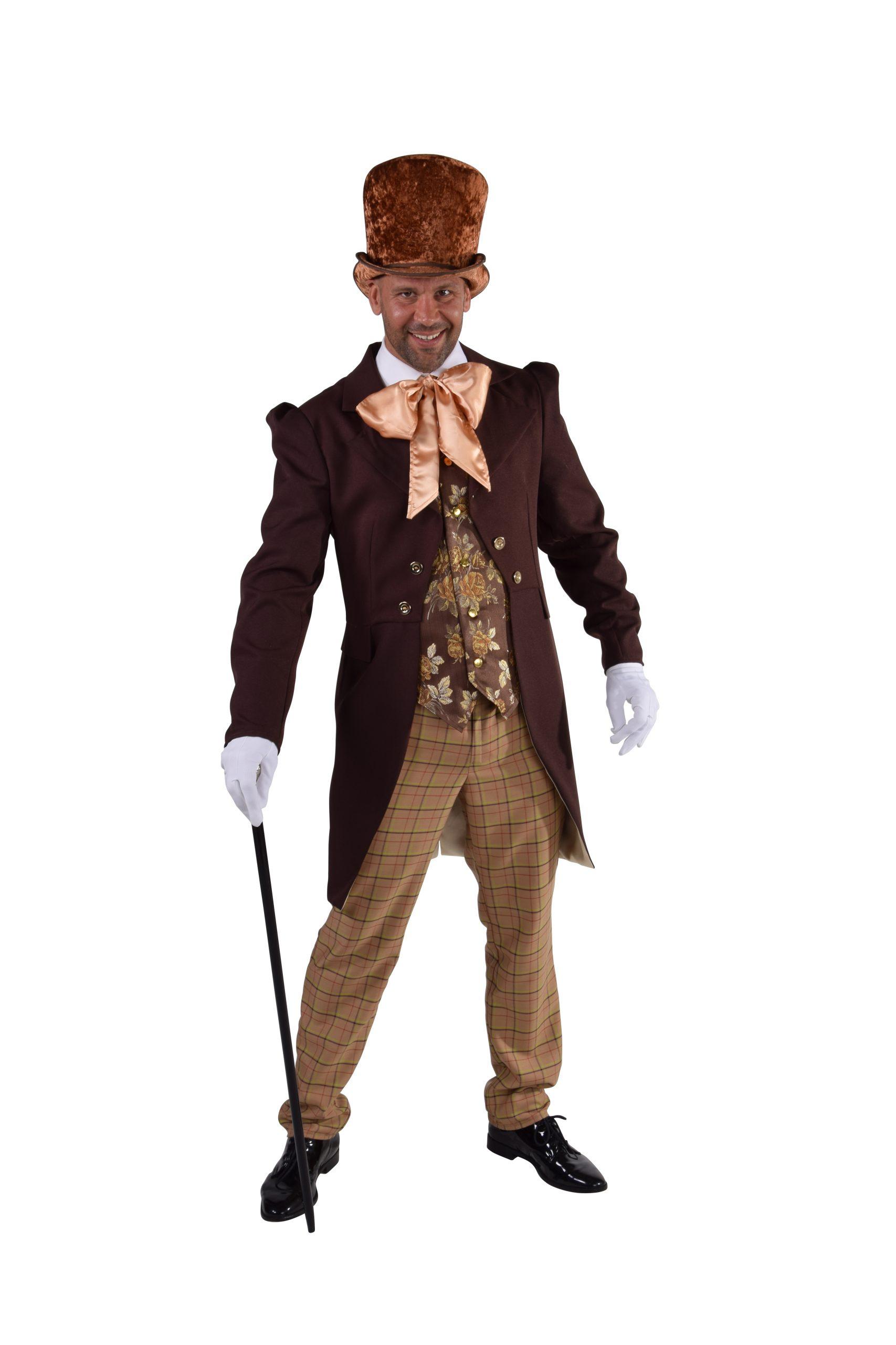 Kostuum Victoriaanse Heer Bruin
