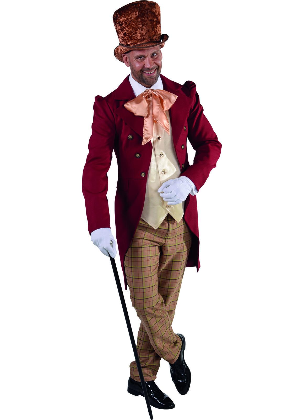 Kostuum Victoriaanse Heer Rood