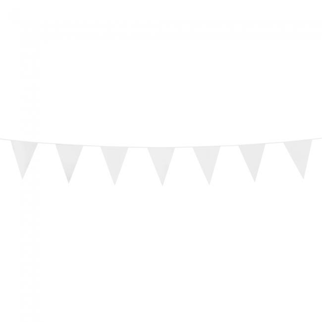 3m Mini Vlaggenlijn Uni Wit