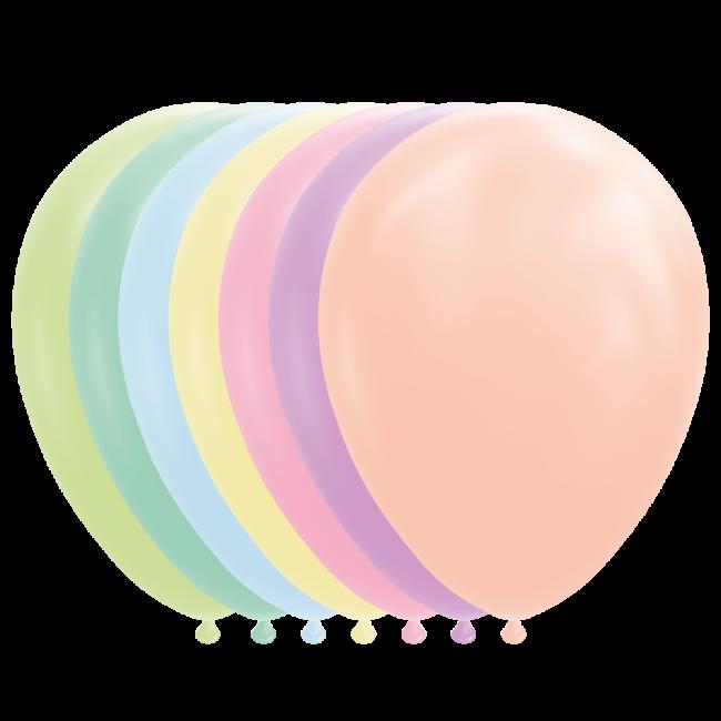 "100st Pastel Ballonnen Assorti Macaron 12"""