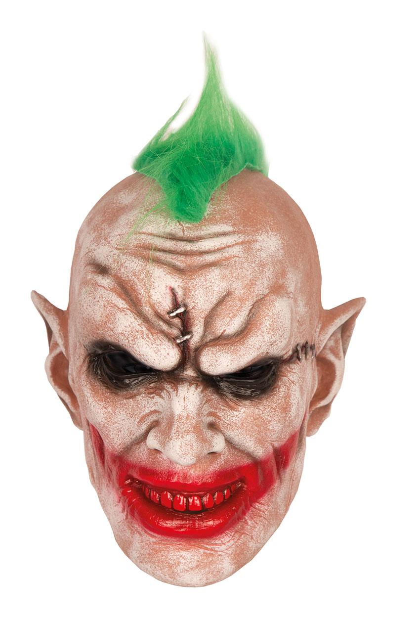Rubber Masker Joker Punt met Haar
