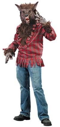Shirt Weerwolf met Vacht Incl. Masker en Hands.
