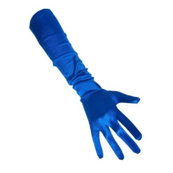 Handschoenen Satijn Cobalt 48cm
