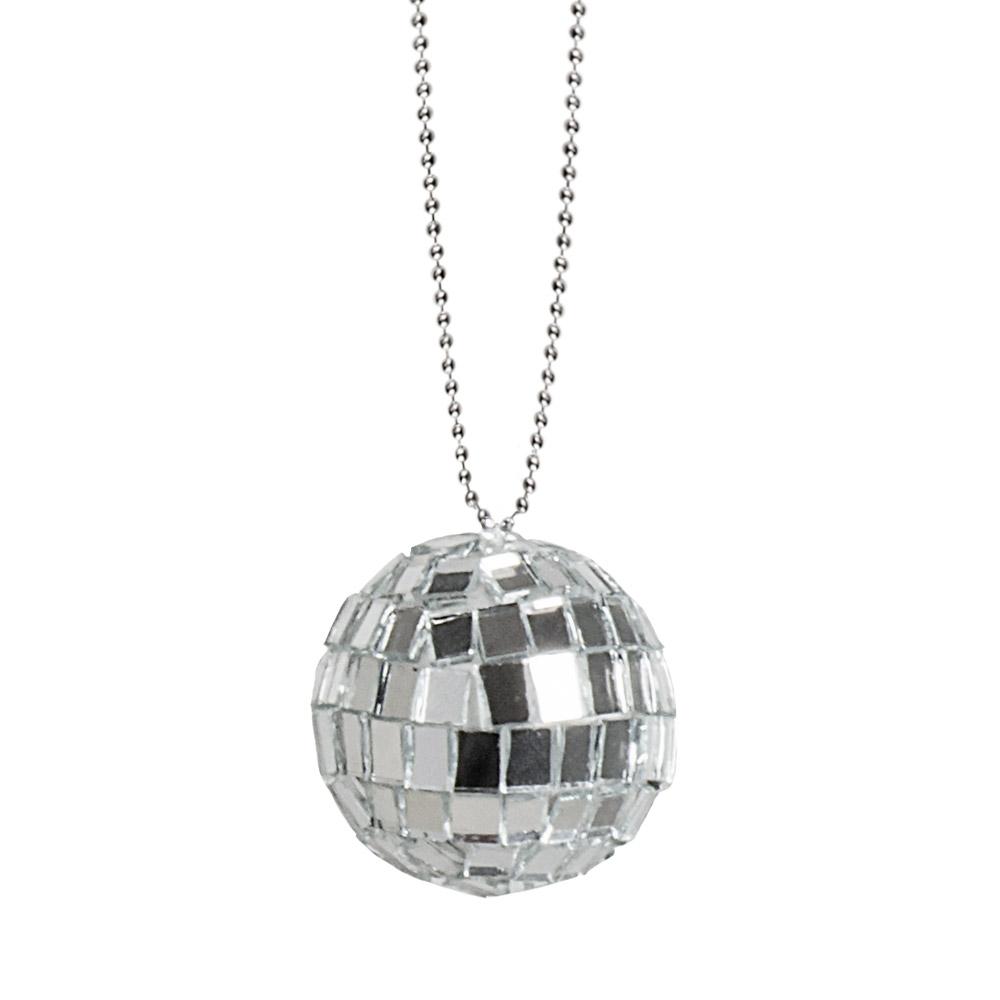 Ketting met Disco Glitterbal