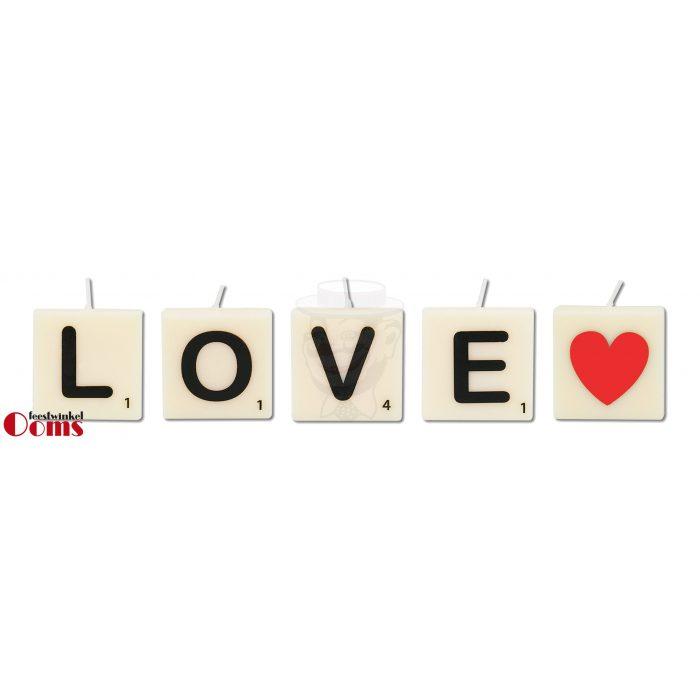 Letterkaarsjes LOVE-HART