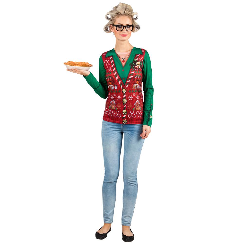 Shirt Fotoprint Corny Christmas Dames