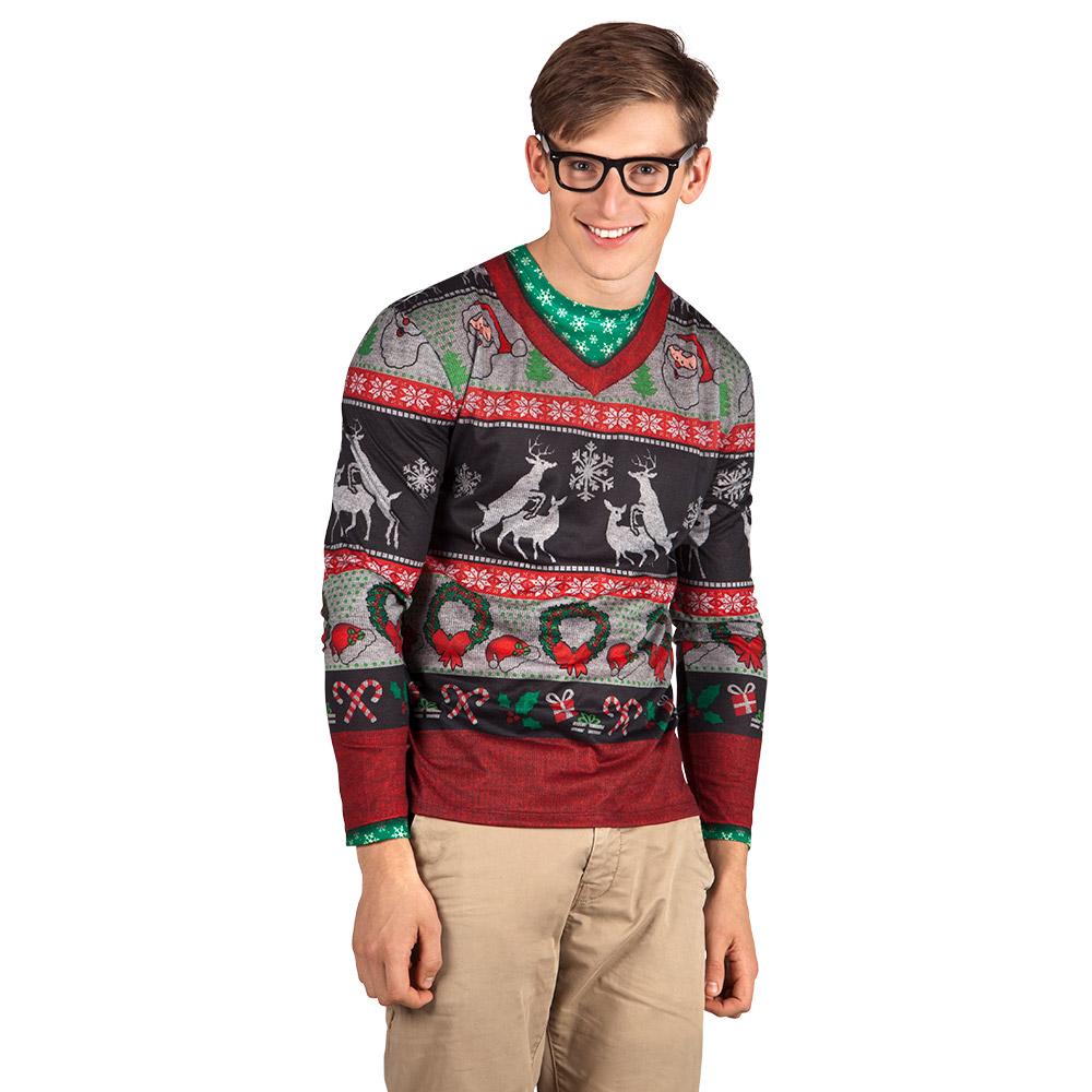 Shirt Fotoprint Silly Christmas Heren