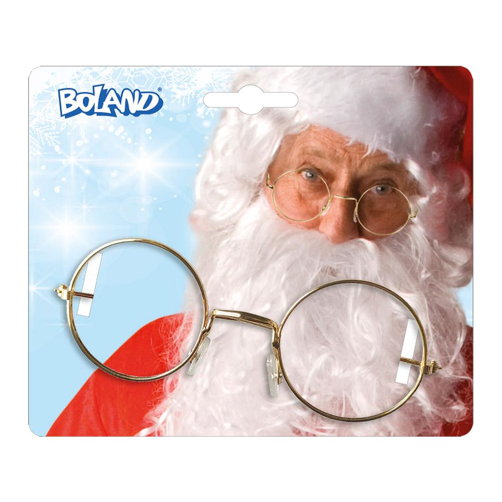Sinterklaas/Kerstman Bril Goud