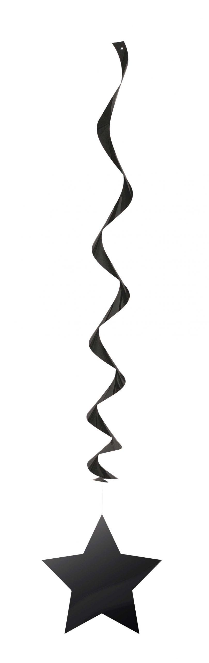 3st Swirls Zwart Sterren 66cm