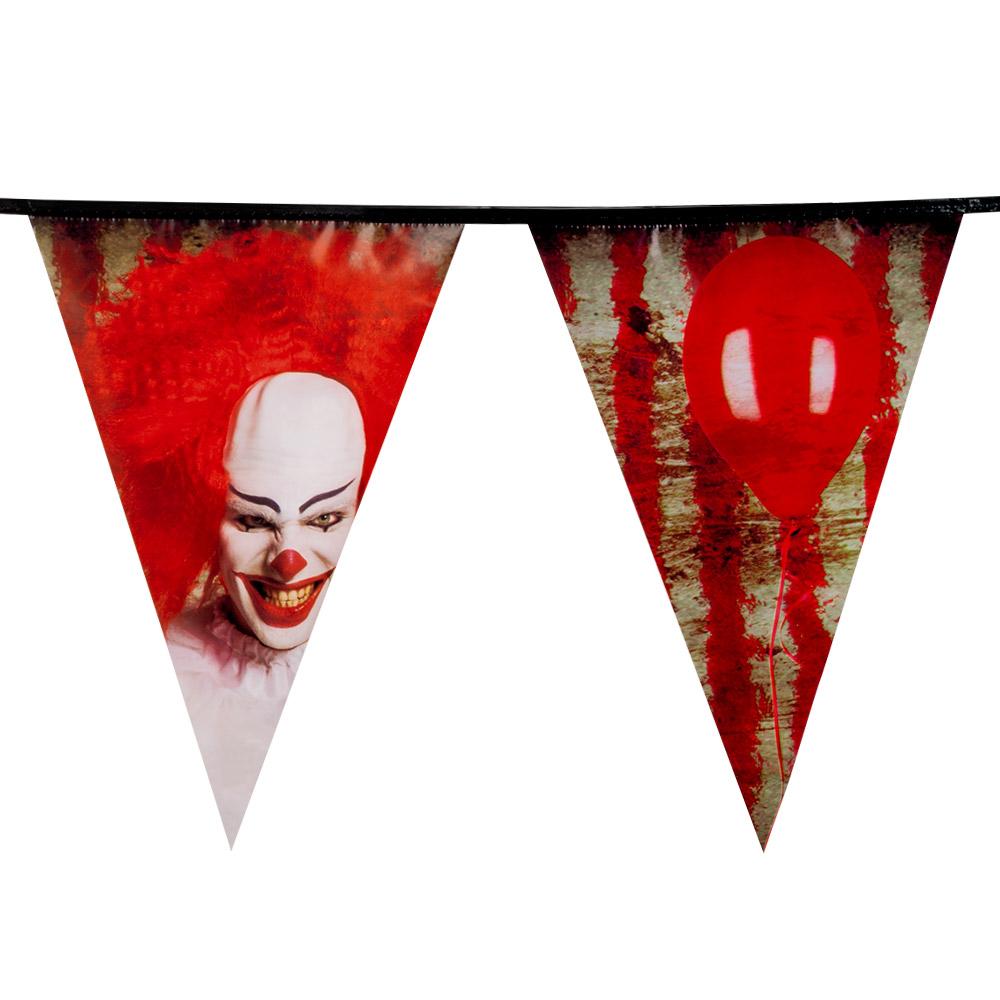 8m Vlaggenlijn Horror Clown It