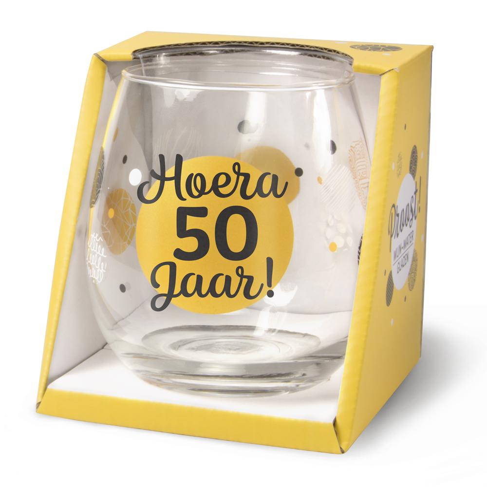 Waterglas Hoera 50 Jaar