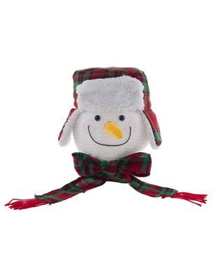 Decoratie Bewegend Sneeuwpop Hoofd 25cm