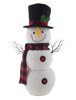 Decoratie Bewegende Sneeuwpop 56cm