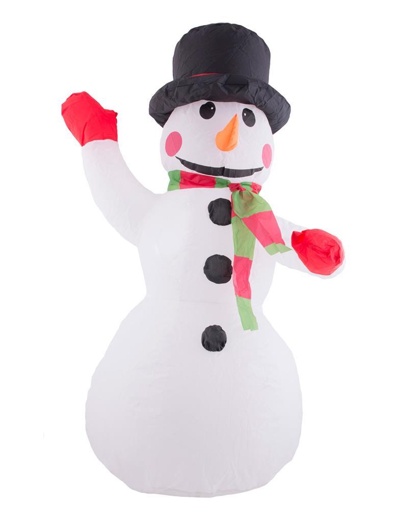 Decoratie Opblaasbare Sneeuwpop 120cm