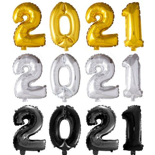 Folieballon Set 2021 41cm voor LUCHT