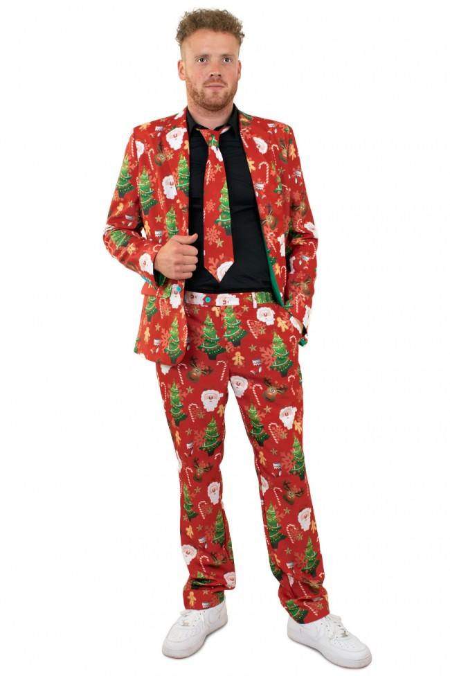 Kostuum Kerst Rood Heren