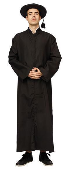 Kostuum Priester Zwart Volwassen