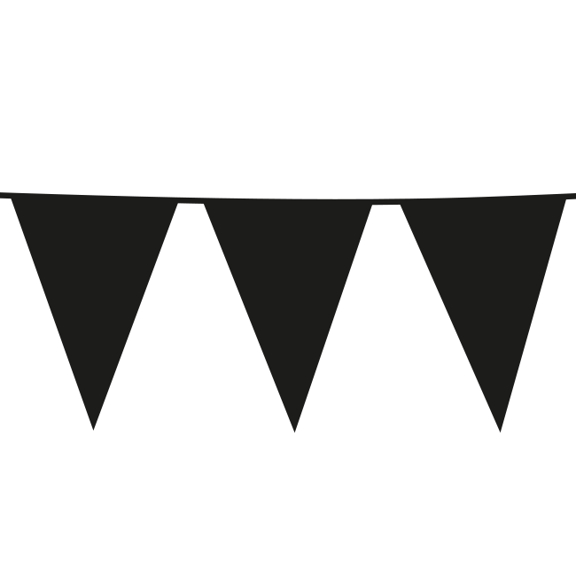 10m Maxi Vlaggenlijn Uni Zwart