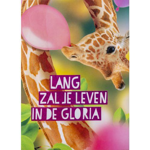 OMG Wenskaart Giraffe Lang Leven