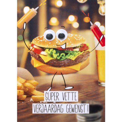 OMG Wenskaart Hamburger