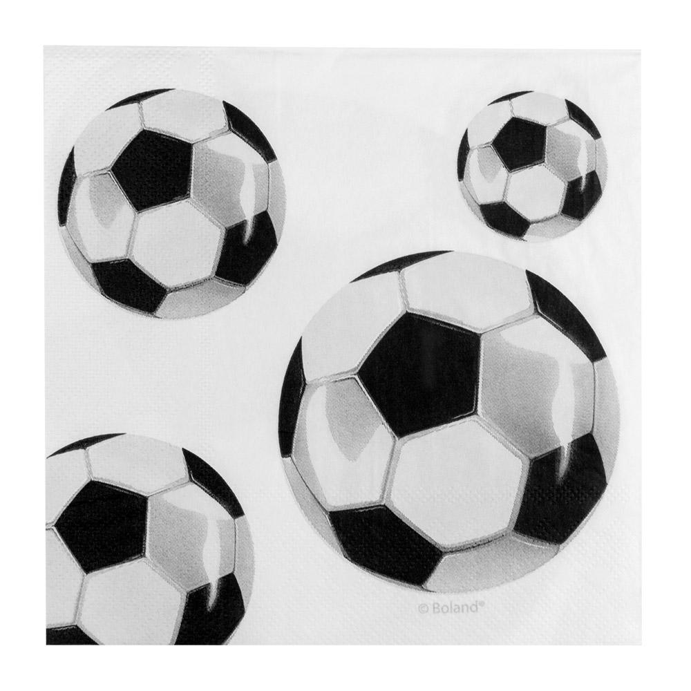 12st Servetten Voetbal 33x33cm
