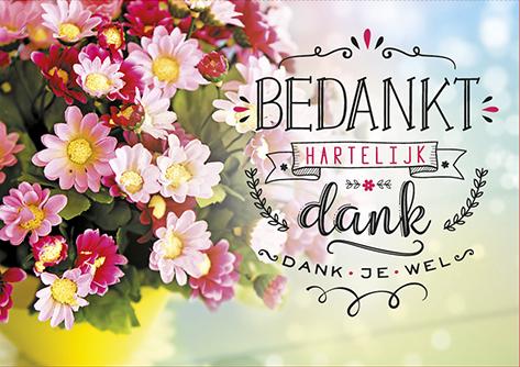 The Written Image Wenskaart Bedankt