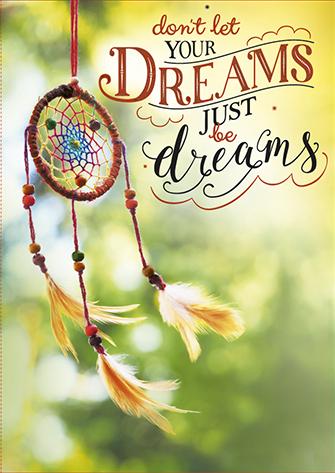 The Written Image Wenskaart Dreams