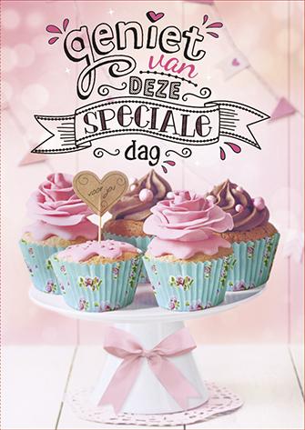 The Written Image Wenskaart Gefeliciteerd Cupcakes