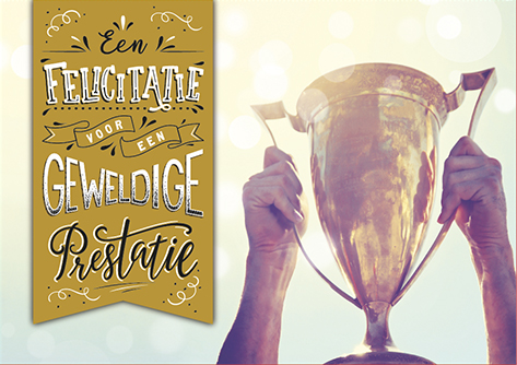 The Written Image Wenskaart Geweldige Prestatie