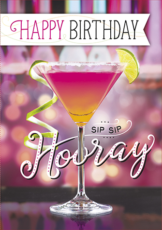 The Written Image Wenskaart Happy Birthday Cocktail
