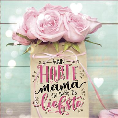 The Written Image Wenskaart Van Harte Mama