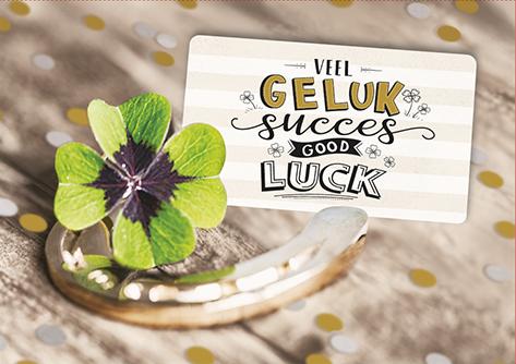 The Written Image Wenskaart Veel Geluk