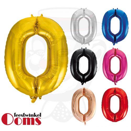 "Folieballon Cijfer ""0"" 86cm"