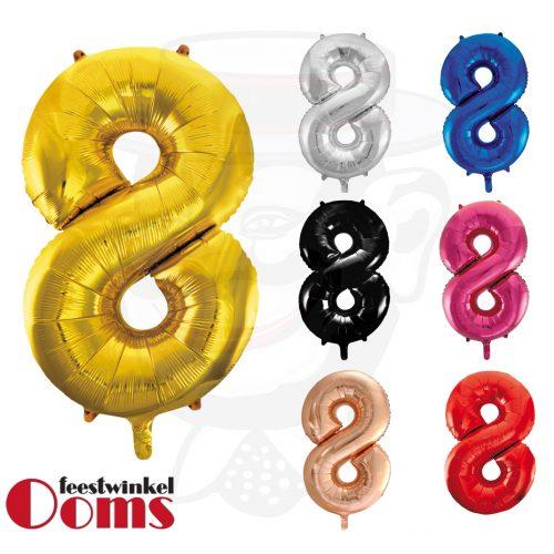 "Folieballon Cijfer ""8"" 86cm"