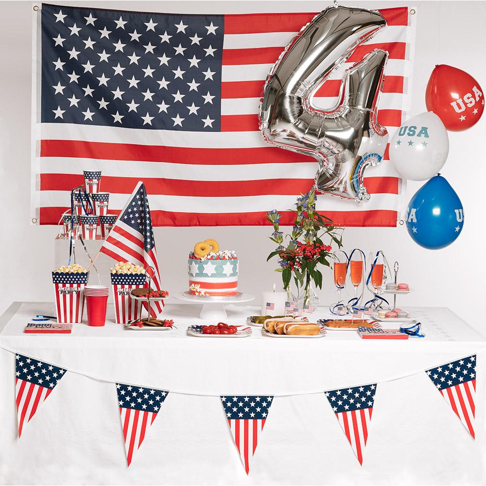 6m Vlaggenlijn American Party