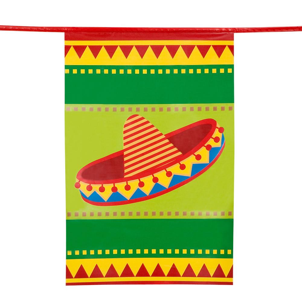 10m Vlaggenlijn Vierkant Fiesta Mexico