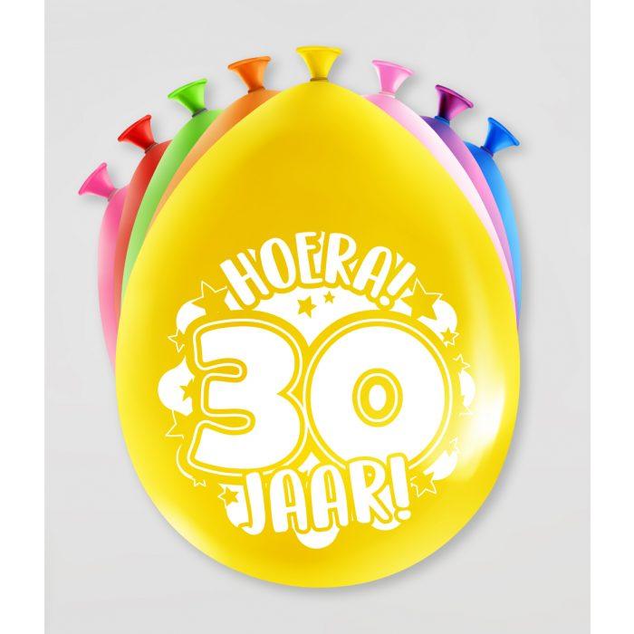 """8st Ballonnen Hoera! 30 Jaar! 12"""""""
